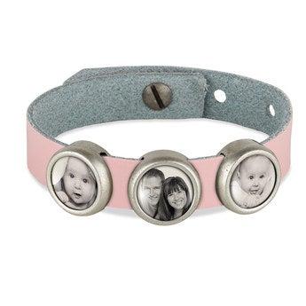 Schiebeperlen Armband rosa 3 Perlen