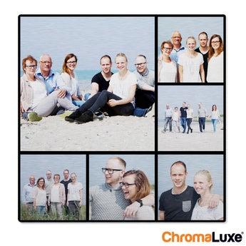 Instagram Collage auf Aluminium Chromaluxe Gebürstet (20x20)