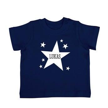 Baby T Shirt Kurzarm Dunkelblau 62 68