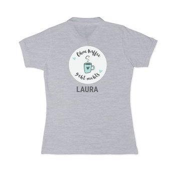 Poloshirt Damen Grau S