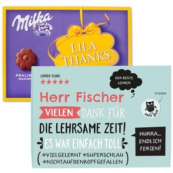 Sag es mit Milka! Blumenpraline 110 Gramm Geburtstag