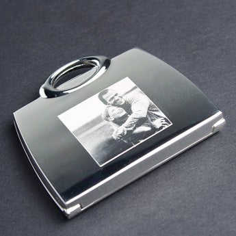 Taschenspiegel Gravur