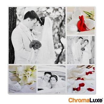 Instagram Collage auf Aluminium Chromaluxe Gebürstet (40x40)