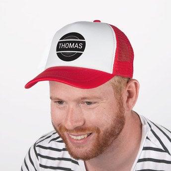 Trucker Cap rot weiß