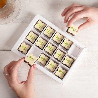 Logo chocolates - Square (15 pieces)