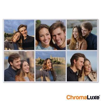 Instagram Collage auf Aluminium Chromaluxe Weiß (60x40)