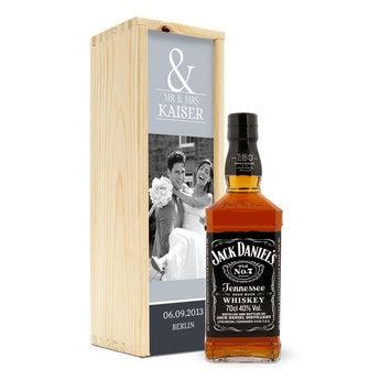 Jack Daniels in personalisierter Kiste