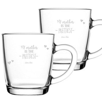 Mother's Day tea glass - set of 2