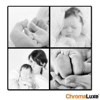 Instagram Collage auf Aluminium Chromaluxe Weiß (20x20)
