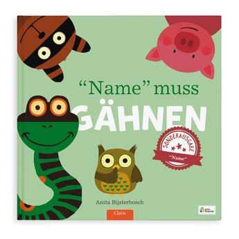 Kinderbuch Jeder gähnt XXL Aufklappbuch