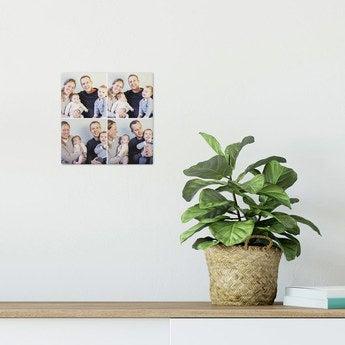 Fototafel ChromaLuxe 15x15 cm gebürstet