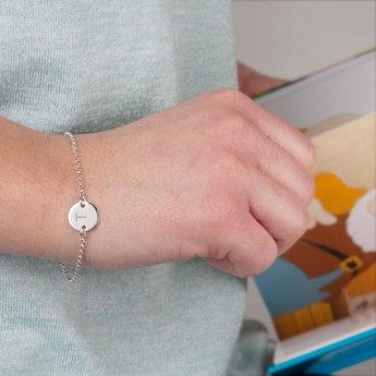 Silbernes Armband mit Initialen