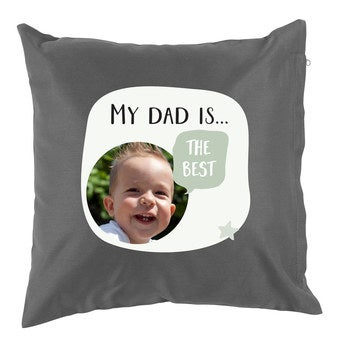 Father's Day pillow - Dark Grey