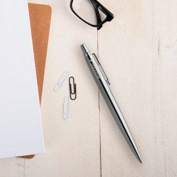 Parker Jotter Kugelschreiber Linkshänder (Silberfarben)