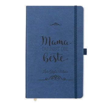 Muttertag Notizbuch selbst gestalten Blau
