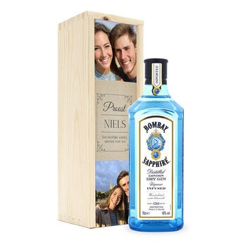 Gin - Bombay Sapphire - in kist