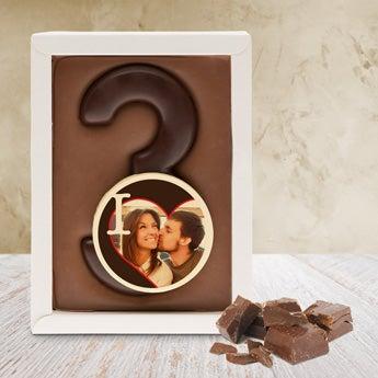 Schokoladentafel 1 Ziffer