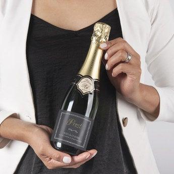 Champagner mit personalisiertem Etikett Rene Schloesser (375ml)
