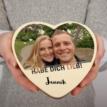 Schokoherz mit Foto Valentinstag 300 gr Vollmilch