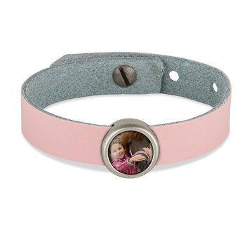 Schiebeperlen Armband rosa 1 Perle
