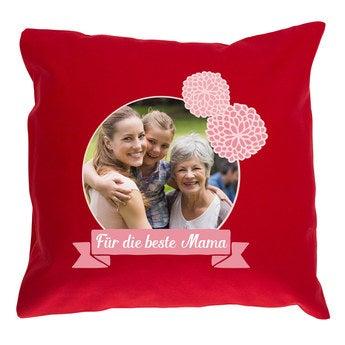 Kissen Muttertag Rot 40x40cm