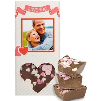 Schokoladentafel Liebe