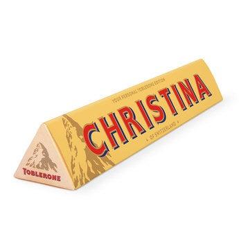 Personalisierte Toblerone Schokolade 200 Gramm