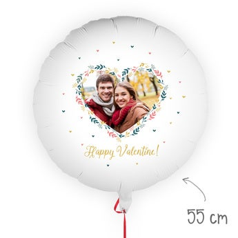 Balloon with photo - Valentine's Day