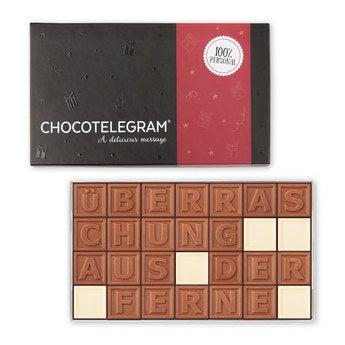 Chocotelegram Präsentkarton 4x7
