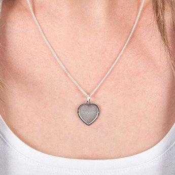 Herzanhänger mit Gravur Silber