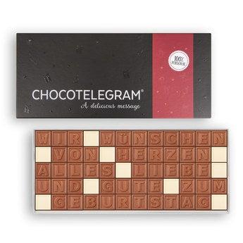 Chocotelegram Präsentkarton 5x12 Buchstaben