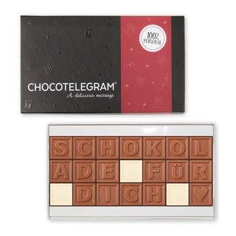 Chocotelegram Präsentkarton 3x7