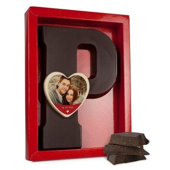 Schokoladenbuchstaben Liebe