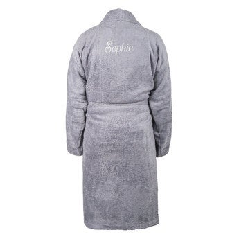 Bademantel Damen Grau (L XL)