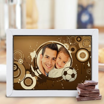 Chocolate Father's Day Card - Large