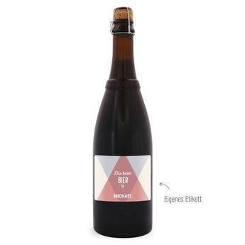 Bier mit eigenem Etikett Westmalle Dubbel