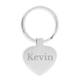 Schlüsselanhänger mit Namen Herz