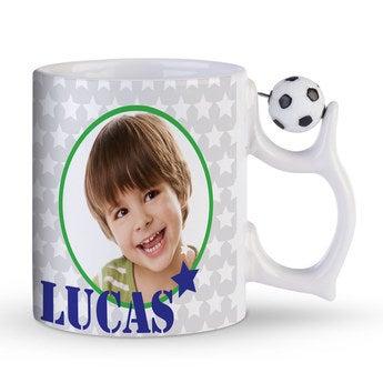 Tasse mit Foto Fußball