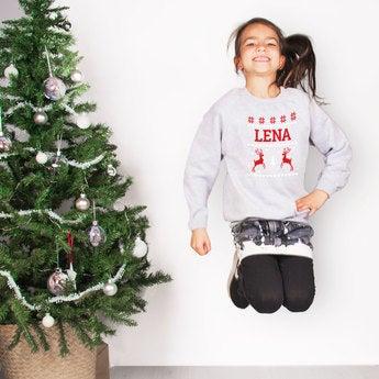 Weihnachtspullover Kind Grau 12 Jahre
