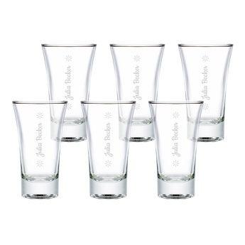 Schnapsglas mit Gravur 6 Stück