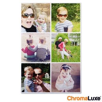 Instagram Collage auf Aluminium Chromaluxe Gebürstet (20x30)