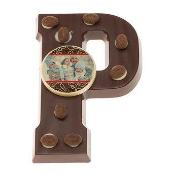 Schokoladenbuchstabe Dunkle Schokolade
