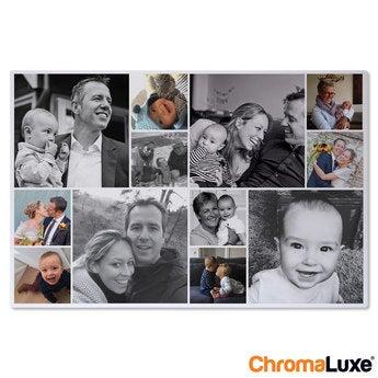 Instagram Collage auf Aluminium Chromaluxe Weiß (30x20)