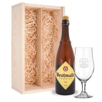 Vatertagsbier mit Glas Westmalle