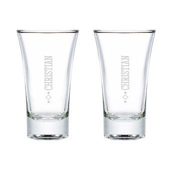 Schnapsglas mit Gravur 2 Stück