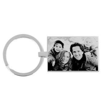 Schlüsselanhänger Fotogravur Rechteck