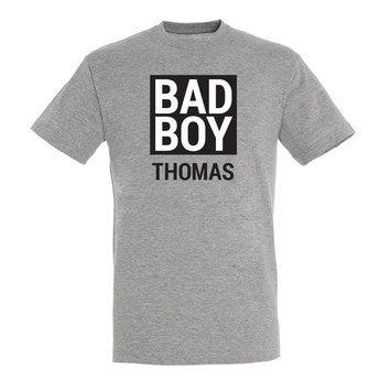 T Shirt Herren Grau meliert S
