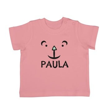 Baby T Shirt Kurzarm Babyrosa 62 68