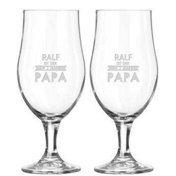Bierglas mit Gravur Vatertag (2 Stück)