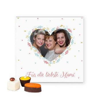 Pralinen mit Foto Muttertag 25 Stück